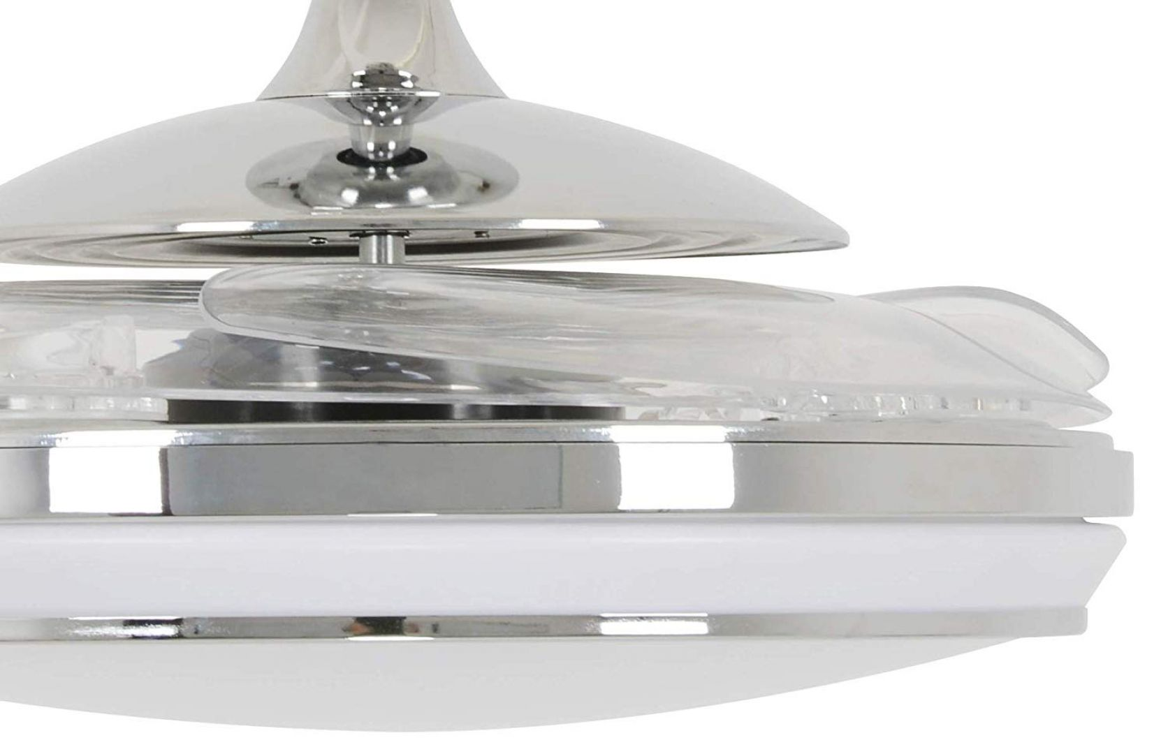 Beacon Deckenventilator mit Lampe Fanaway EVO1 LED chrom gebürstet