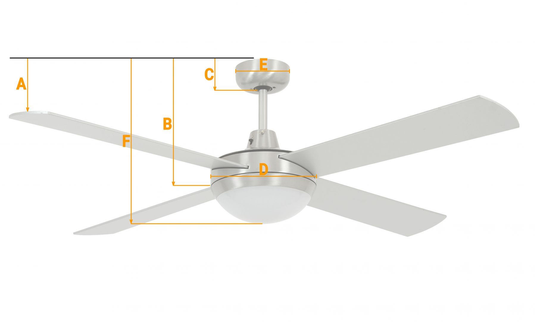 Beacon Deckenventilator Fraser Chrom gebürstet